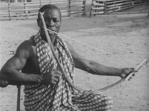 楽弓の演奏