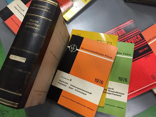 ドイツ語による小冊子がまとめられた、ECフィルムの解説書。